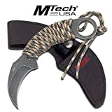 MTECH USA HAWK BLADE MILITARY WRAPPED CORD TACTICAL KNIFE For Sale