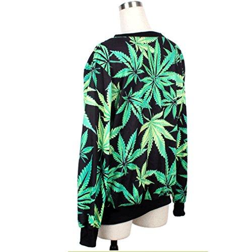 Thenice - Sudadera - Lunares - Manga Larga - para mujer Tree leaf