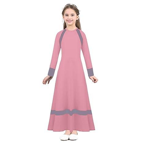 47791db228d TiaoBug Enfant Fille Justaucorps de Danse Ballet Robe à Manche Longue Robe  Coton Robe Soirée Cérémonie