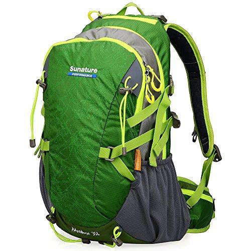 UPC 702334336243, Doleesune 40l Outdoor Hiking Daypacks Camping Backpack Sports Cycling Climbing Frame Backpacks Waterproof Mountaineering Pack 2387 (Orange) (green)