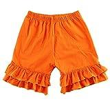 Baby Girl Double Icing Ruffle Cotton Girl Shorts Bottom Pants Soft Activewear Slacks Boutique Leggings