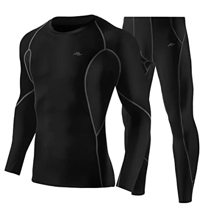 29ce86c67ae16 TRYSIL Men s Compression Clothing Long Sleeve Shirts Long Underwear Tights  Running Clothes Quick Dry Sportswear Set