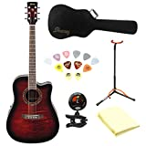 Ibanez Performance Series PF28ECE Acoustic-Electric Guitar With Polishing Cloth, Picks, Tuner, Matching Hardcase and Stand