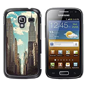 LECELL--Funda protectora / Cubierta / Piel For Samsung Galaxy Ace 2 I8160 Ace II X S7560M -- Empire State Nyc New York Building --