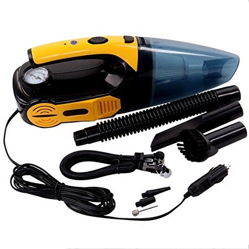 4-in-1 Car Vacuum Cleaner,Tire Inflator Air Compressor, Tire Pressure Gauge,LED light Portable Wet and Dry 12V 120W Handheld Long-Nose For Car with 18.85 inch Power Cord With HEPA (vacuum cleaner) by Pandamen NLH (Image #8)'