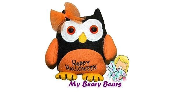 Halloween Fall Owl Owl Halloween Toy Mini Owl Halloween Owl Holiday Decor Memory Toy Keepsake Toy Memory Bear Halloween D/écor