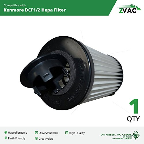 1 Kenmore DCF-1, 20-82720, DCF-2, 20-82912 HEPA Filter Generic Part By ZVac. Replaces Part Numbers F259 Fits: V5400, MC-V415- 00, MC-V5454- 02, 82912 & 82720 Series Uprights.