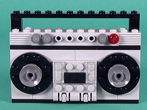 Radio Cassette Player Building Instructions with LEGO Classic - Cassette Pattern