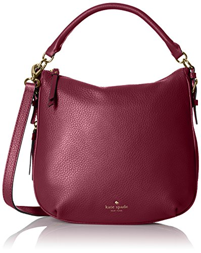 kate spade new york Cobble Hill Small Ella Shoulder Bag, Merlot, One Size by Kate Spade New York