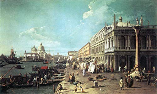 - Home Comforts Peel-n-Stick Poster of Canaletto (I) - The Molo with The Library and The Entrance to The Grand Canal Vivid Imagery Poster 24 x 16 Adhesive Sticker Poster Print
