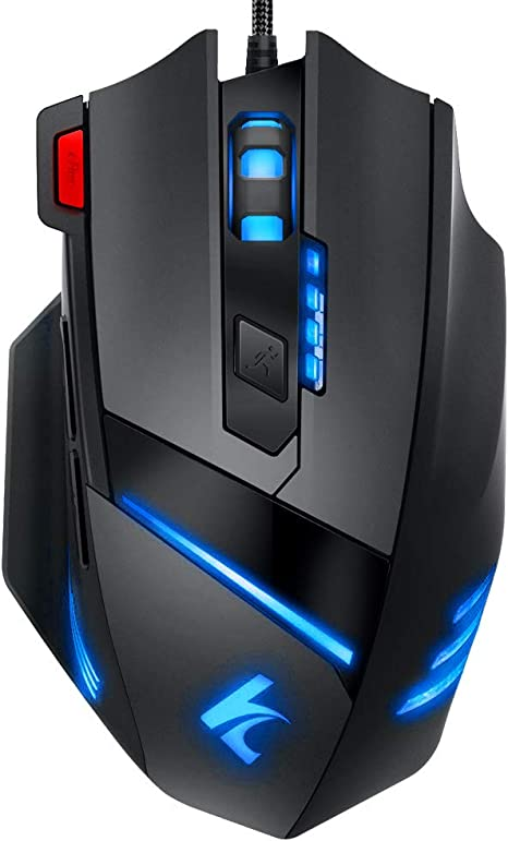 4000 DPI Weight Adjustment Settings Multi-Mode LED Programmable Button Gaming Mouse Ergonomic USB Wired Mouse and Mouse for Pro Gamer PC Laptop Computing