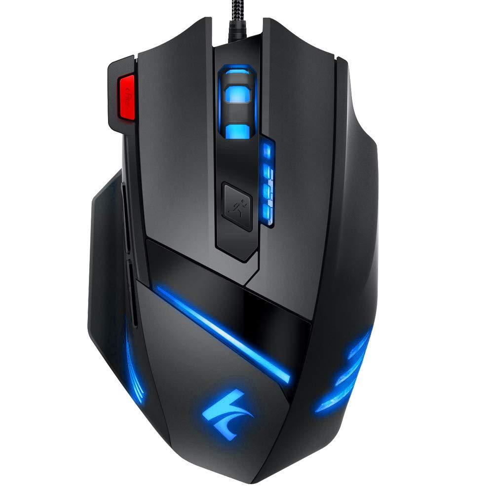 ratoncon led de colores para ordenador