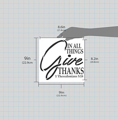 """in All Things Give Thanks Stencil by StudioR12   (9"""" x 9"""")"""