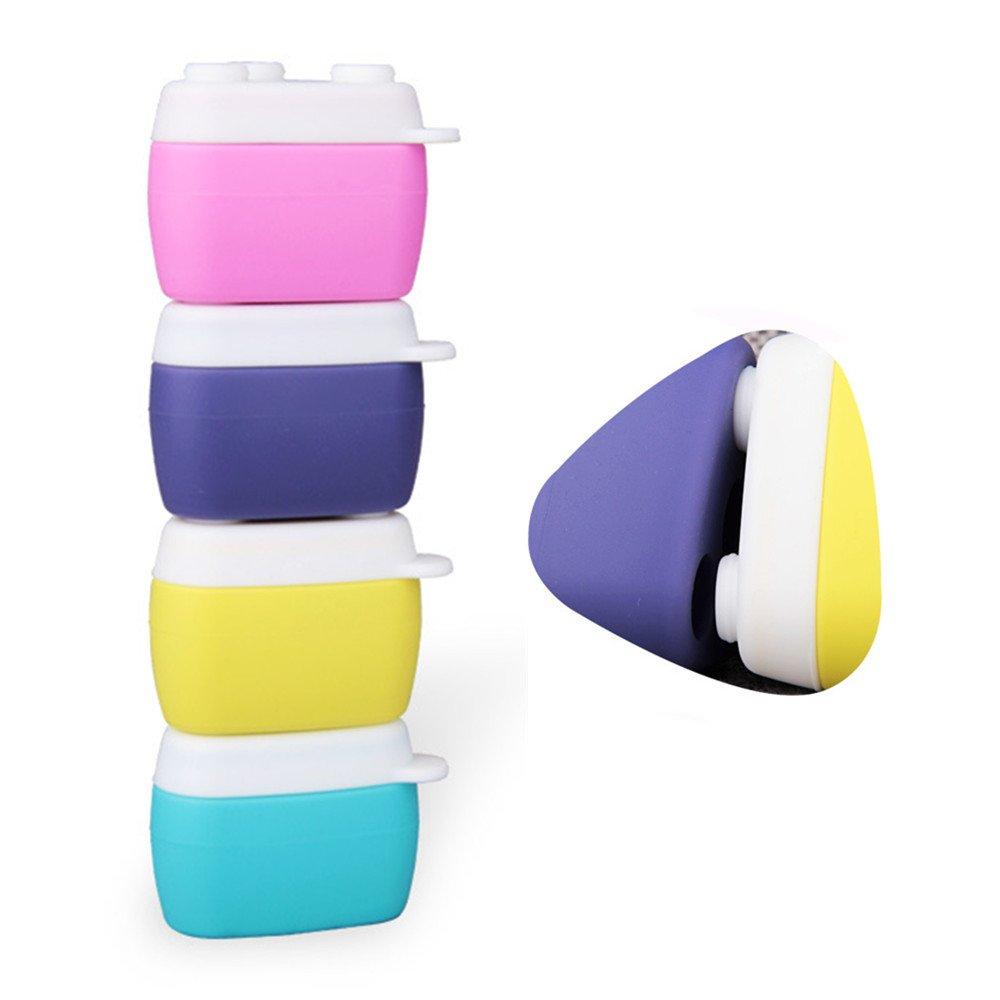 Puve Vie Botellas de Viaje Portátil Silicona Cosmético Contenedores Crema Tarro con Sellado Tapas (30ml, 4 Pedazos)
