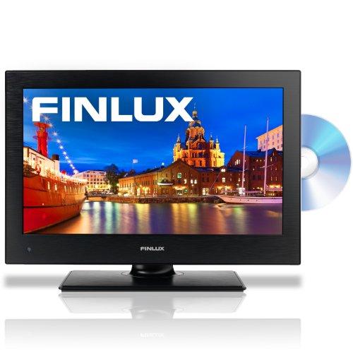 Finlux 19 Inch LED TV/DVD Combi 12V/Mains Multi-Region HD 720p Freeview PVR Black Caravan HGV Boat- 19H6030-DM