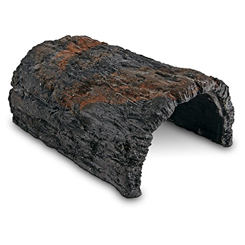 Conceptual Creations Large Bark Log Reptile Hideaway, 9'' L X 6'' W X 4'' H, Black by Conceptual Creations