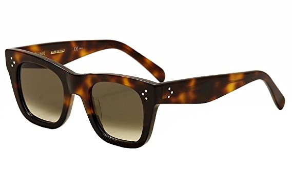 76ac76d1c77 Celine 41089 S AEA Tortoise Catherine Small Square Sunglasses Lens Category  3 S  Amazon.co.uk  Clothing