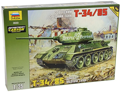 Used, T-34/85 Soviet Middle Tank WWII 1/35 Zvezda 3533 for sale  Delivered anywhere in USA
