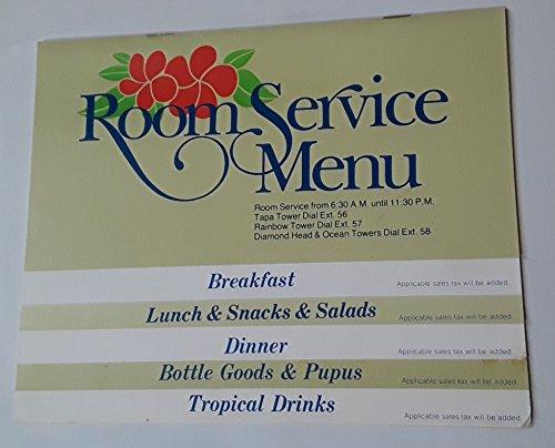 Original Vintage 1985 Room Service Menu Honolulu Hilton Hawaiian Village Bali Room ()