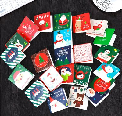 (Megrocle 24 Pack of Mini Christmas Greeting Cards & Envelopes - 24 Designs Xmas Party Supplies Invitation Perfect hand delivery Christmas Cards-2.7 x 2.7 Inches )