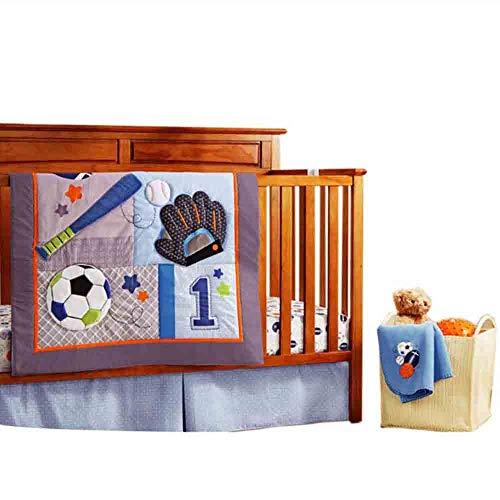 - YOMIMAX Cotton Baby Crib Bedding Sets for Boys 10 Pcs Bals Print Cartoon Crib Bedding Set