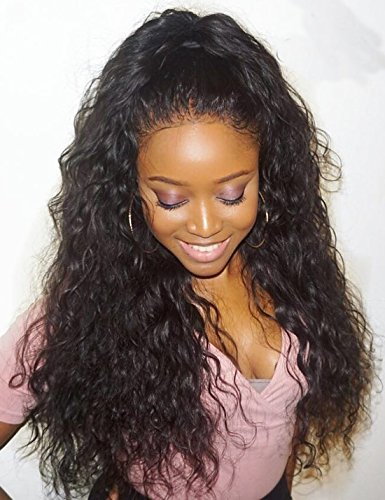 Lace Front Human Hair Wigs with Baby Hair For Black Women Natural Color 24 Inch 130 - Store Orlando Indian