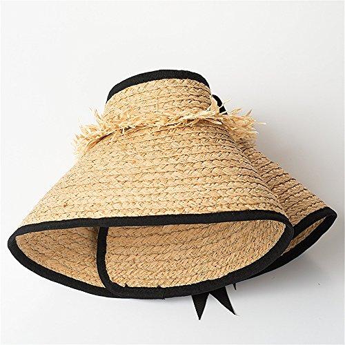 Aire Puede Paja la Recorrido Sombrero al El la a protección Libre en Sombrero del Paja Tejer Zhou Mano de Yunshan de de se Sol del de Doblar un Playa 6q7RYOa