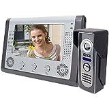 Elife 7 Inch High Definition color TFT LCD Video Door Phone Doorbell Intercom Security System Kit 1-camera 1-monitor IR Camera Night Vision