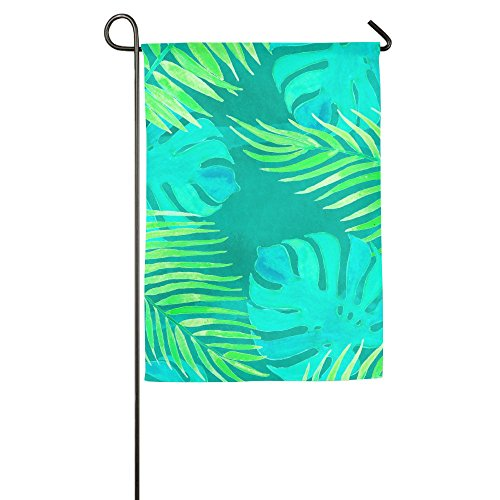 WYIZYIQA Green Leaves Garden Flag Yard Decorations Flag For