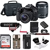 Canon EOS 80D DSLR Video Creator Kit w/ 18-55mm lens, Rode VIDEOMIC GO, 32GB Card, Canon Bag & Kit