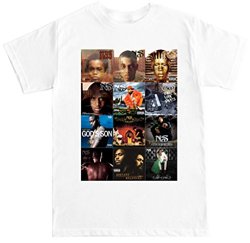FTD Apparel Men's NAS Album Covers T Shirt - Small - White Album T-shirt