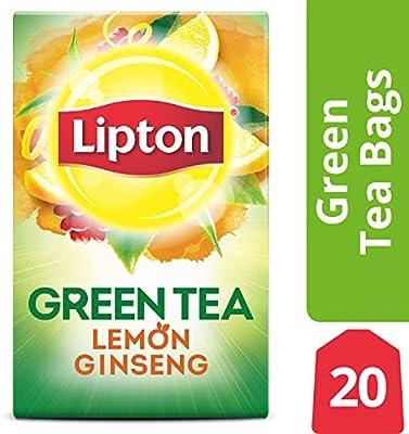 Lipton té verde, limón el Ginseng, bolsas de té 20 Count ...