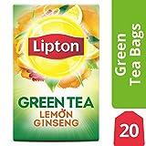 Lipton Green Tea Bags, Lemon Ginseng, 20 ct Pack of 6