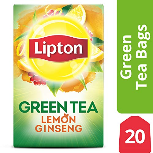 - Lipton Green Tea Bags, Lemon Ginseng, 20 ct Pack of 6