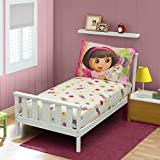 Dora The Explorer Fitted Sheet and Pillow Case, Pink (Discontinued by Manufacturer)