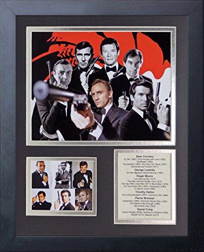 Legends Never Die James Bond Framed Photo Collage, 11 x 14
