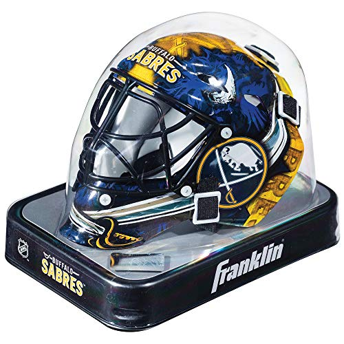 Franklin Sports NHL League Logo Buffalo Sabres Mini Goalie Mask - Mini Hockey Goalie Mask