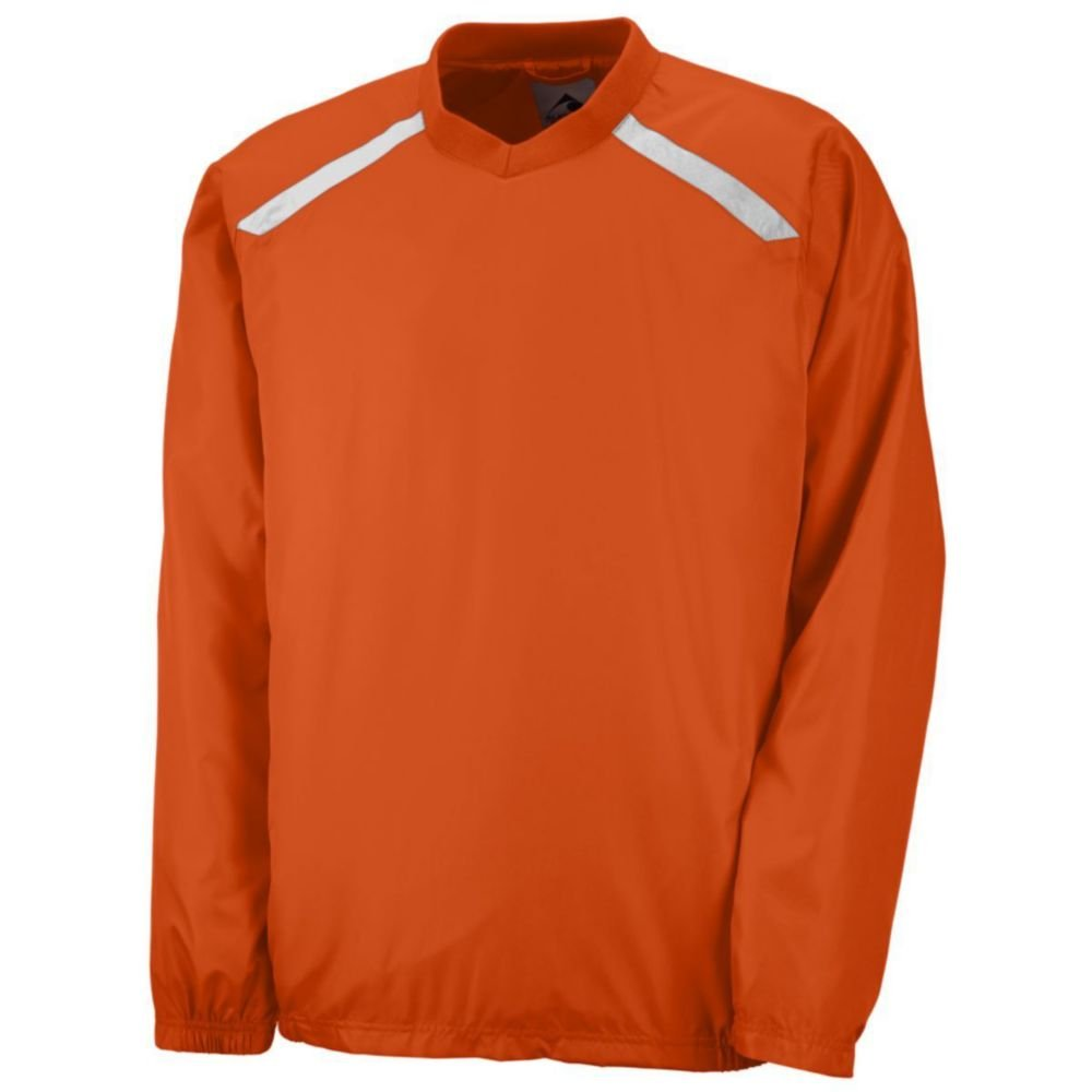 Augusta Athletic Youth Promentum Pullover, Orange/White, Large
