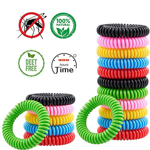 Mosquito Repellent Bracelets,18 Packs Green Nature Bug & Insect Repellent Bands,Pest Control for Babies Kids Adults,Deet-free Non-Toxic Safe Mosquito Repellent Wristband for Maximum Protection
