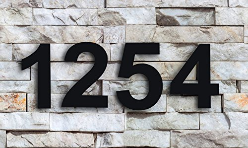 QT Modern House Number - 6 Inch Black - Stainless Steel (Number 0 Zero), Floating Appearance, Easy to Install and Made of Solid 304 Stainless Steel by QT Home Decor (Image #4)