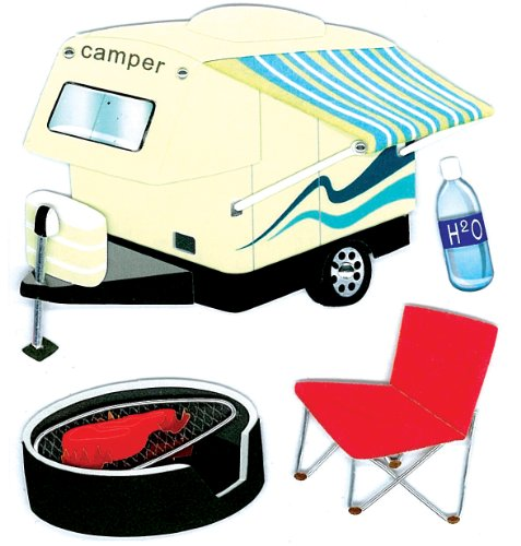 Jolee's Boutique Dimensional Stickers, Camper Hitch