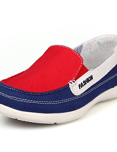 ZQ Zapatos de mujer - Tacón Plano - Mocasín - Mocasines - Oficina y Trabajo / Casual - Tela - Azul / Negro / Rojo , red-us8.5 / eu39 / uk6.5 / cn40 , red-us8.5 / eu39 / uk6.5 / cn40 red-us5.5 / eu36 / uk3.5 / cn35