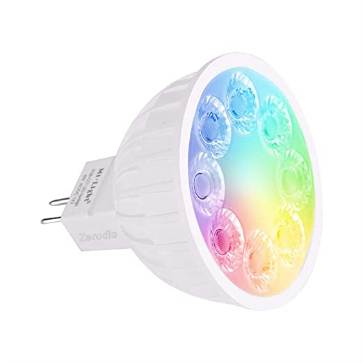 Zerodis Milight MR16 4W LED Luz inalámbrico RGB + CCT Proyector ...