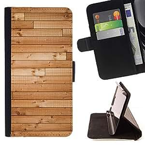 For Apple iPhone 5C Case , Pisos de Madera Dura Textura Barco de Brown- la tarjeta de Crédito Slots PU Funda de cuero Monedero caso cubierta de piel
