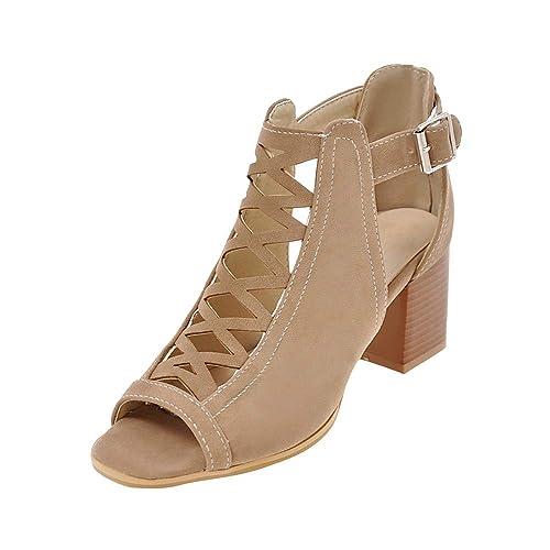 44f668465da Women s Sandals Mesh-Shaped Fishmouth High-Heeled Stylish Light-Heel Thick Heel  Sandals