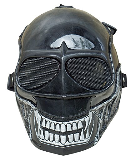 [Invader King ALIEN Airsoft Mask Army of Two Protective Gear Outdoor Sport Fancy Party Ghost Masks Bb] (Homemade Space Alien Costume)