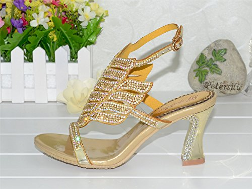 Unicrystal ,  Damen Sling Backs Gold