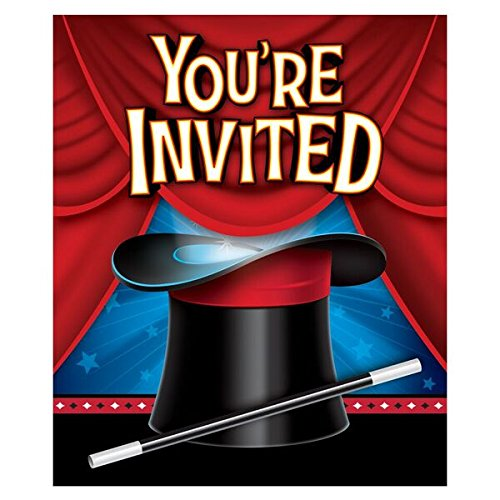 [Creative Converting Magic Party Invitations (8 Count)] (Childrens Costume Party Invitations)