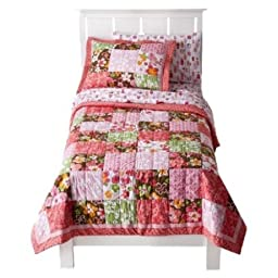 Circo® Blossom Quilt Set - Pink (Full)