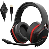 Xiberia V22 Gaming Headset for PC- Strong Bass Virtual 7.1 Sound- USB Headphones with Noise Cancelling Microphone RGB…